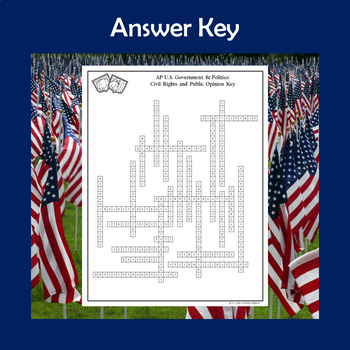 AP Government Vocabulary Crossword Puzzle - Civil Rights and Public Opinion