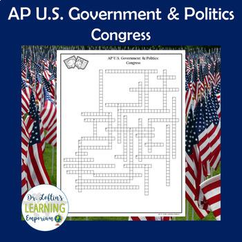 AP Government Vocabulary Crossword Puzzle - Congress