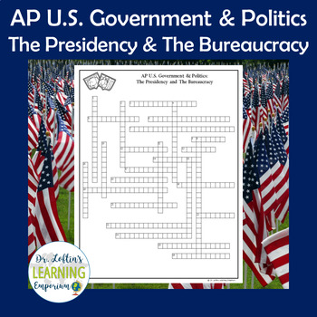 AP Government Vocabulary Crossword Puzzle - The Presidency and The Bureaucracy