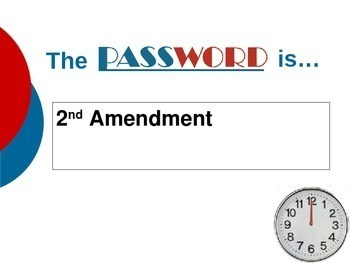 AP Government Vocabulary Password Game