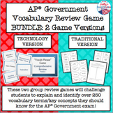 AP® Government Vocabulary Review Game BUNDLE (2 Game Versions)