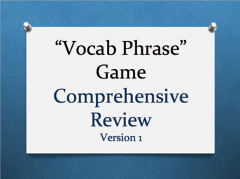 """AP® Government Vocabulary Review Game- """"Vocab Phrase"""" (Technology Version)"""
