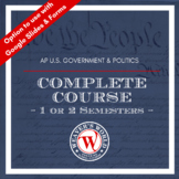 AP Government and Politics Complete Course - Full Year (Growing Bundle)