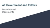 AP Government and Politics Court Cases and Foundational Documents