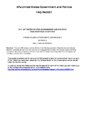 AP Government and Politics FRQ Subject Guide