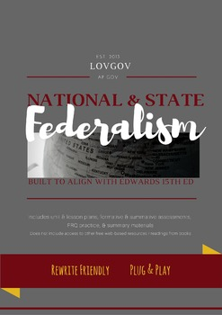 AP Government and Politics Federalism Unit