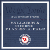 AP Government Student Syllabus and Course Plan on a Page