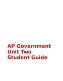 AP Govt Unit Two Student