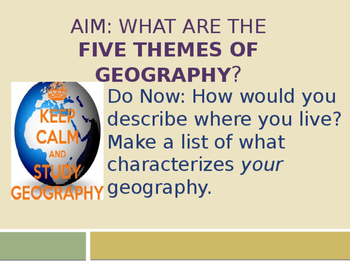AP HUMAN GEOGRAPHY CH1 PowerPoint