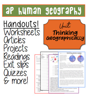 AP HUMAN GEOGRAPHY Ch1 Thinking Geographically Worksheets
