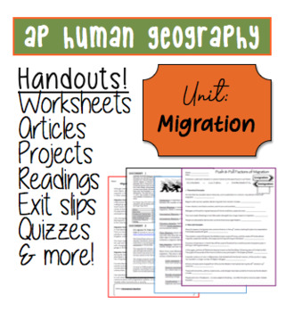 ap human geography migration worksheets and handouts 27 pages tpt. Black Bedroom Furniture Sets. Home Design Ideas