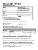 AP HUMAN GEOGRAPHY Population Review Sheet - Answer Key