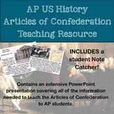 AP History Articles of Confederation Teaching Materials