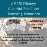 AP History Colonial Rebellion Teaching Resource