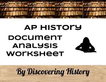 AP History Document Analysis Worksheet