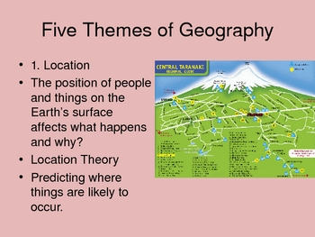 AP Human Geography Chapter 1 Intro Power Point
