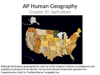AP Human Geography  Chapter 10: Agriculture Powerpoint