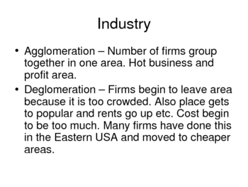 AP Human Geography Chapter 12 Industry and Services Point De Blij