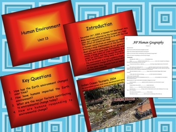 AP Human Geography Chapter 13 MP4s of Power Points & Fill in the Blank Outline