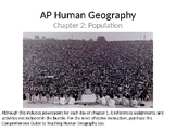 AP Human Geography Chapter 2: Demography and Population Po