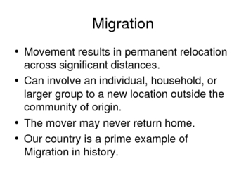 AP Human Geography Chapter 3 De Blij Migration Power Point