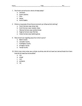 AP Human Geography Chapter 4 (Folk and Popular Culture) Quiz Rubenstein