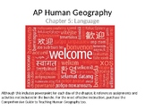 AP Human Geography  Chapter 5: Language Powerpoint