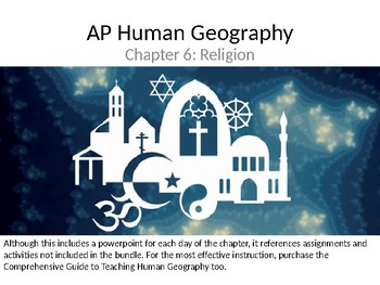 AP Human Geography  Chapter 6: Religion Powerpoint