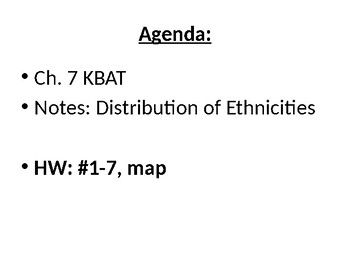 AP Human Geography  Chapter 7: Ethnicity Powerpoint