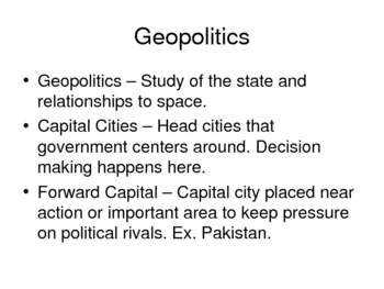 AP Human Geography Chapter 8 Political Geogrpahy Power Point De Blij