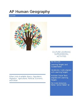 AP Human Geography - Culture Supplemental Activities
