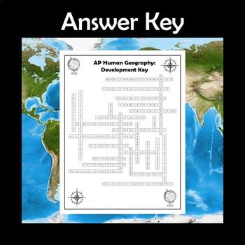 AP Human Geography Development Vocabulary Crossword