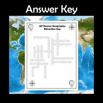 AP Human Geography Ethnicities Vocabulary Crossword
