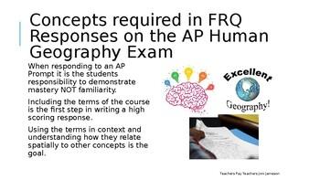 AP Human Geography FRQ Prep Political Geography