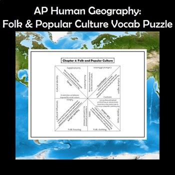 AP Human Geography Folk & Popular Culture Vocabulary Puzzle