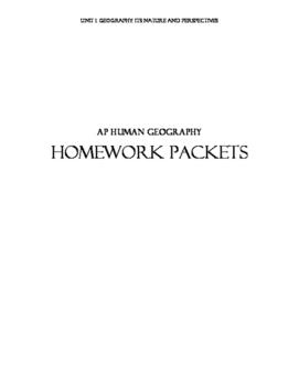 AP Human Geography Homework Packets-Unit 1