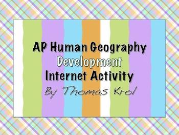 AP Human Geography Internet Activity Development