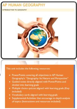 AP Human Geography - Introduction to Geography Unit