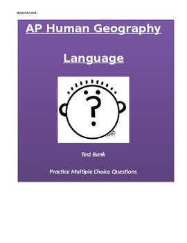 AP Human Geography: Language Multiple Choice Questions