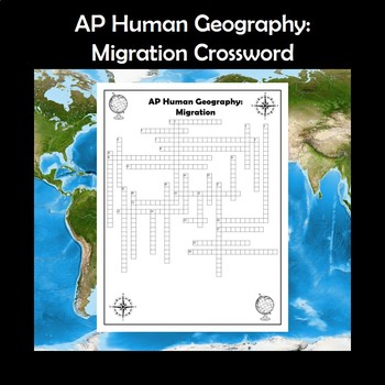 AP Human Geography Migration Vocabulary Crossword