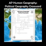 AP Human Geography Political Geography Vocabulary Crossword