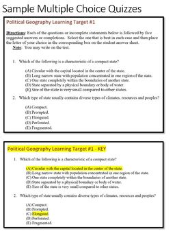 AP Human Geography - Political PowerPoints, Guided Notes, Activities, and Wkshts