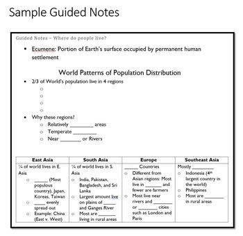 AP Human Geography - Population