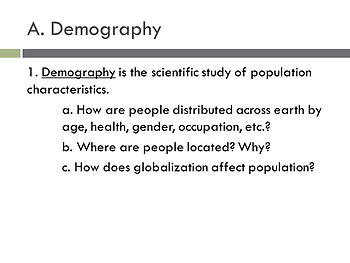 AP Human Geography - Population and Migration PowerPoint