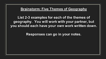 AP Human Geography - Principles of Geography PowerPoint