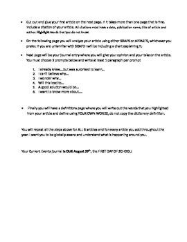 AP Human Geography Summer Homework Assignment