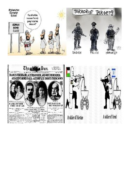AP Human Geography Terrorism Political Cartoon Matching Worksheet