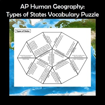 AP Human Geography Types of States Vocabulary Puzzle