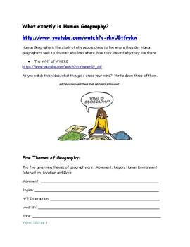 AP Human Geography Unit 1 Workbook: Basic Skills
