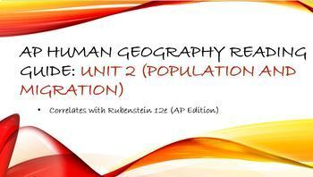 AP Human Geography Unit 2 Reading Assignment (Rubenstein)